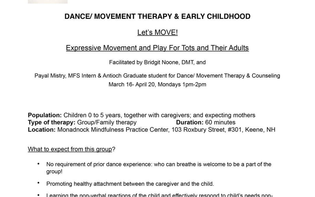 Let's Move! Dance/ Movement Therapy & early childhood Expressive Movement and Play For Tots and Their Adults